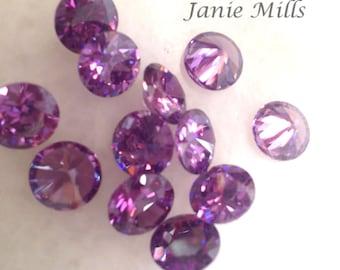 Amethyst  Faceted Gemstone 10 mm round