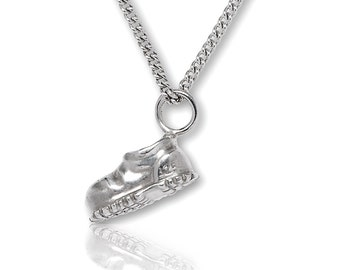 Pendant Pendant hiking boot sterling silver curb chain, Outdoor jewelry, costume jewelry, Alps, Climbing