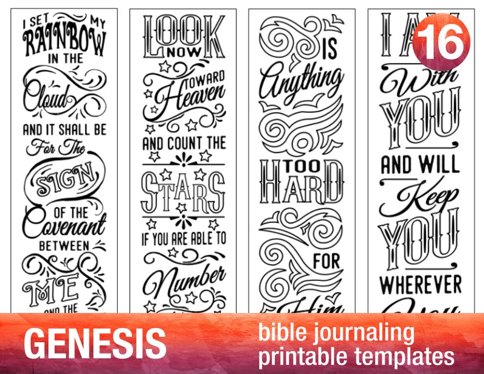 Genesis 4 Bible Journaling Printable on Create Your Own Traceable Name