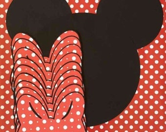 Pin the Bow On Minnie, Pin the Bow on Minnie Game, Party Game, Birthday Party Game, Minnie Mouse, Minnie Mouse Game