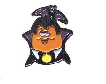 Dracula Halloween McNugget Enamel Pin