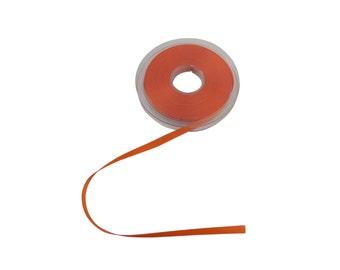 Double Faced Orange Satin Ribbon 7mm *4 Lengths*