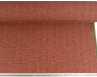 Herringbone Wool Look and Feel Red Upholstery Fabric Material Sold By The Metre
