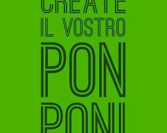 Make your own pom poms