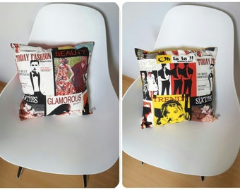 Cushion cover with the reasons of fashion magazine covers, fashion style