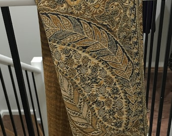 Pashmina Big Paisley thicker Golden Brown