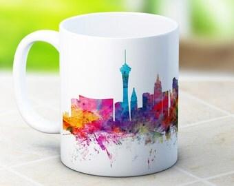 Las Vegas Skyline Nevada USA Cityscape - High Quality Coffee Tea Mug
