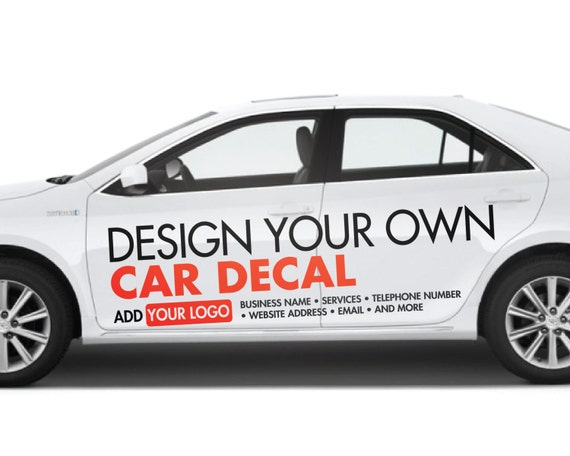 Custom Car Decals: Custom Car Decal Vinyl Lettering Custom By UrbanArtworkStore