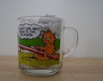 McDonalds Glass Mug with Garfield and Friends 1978