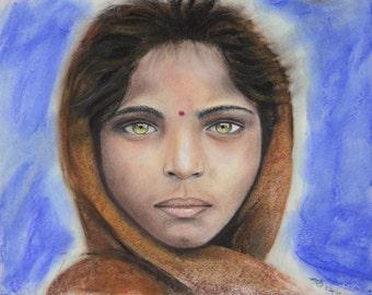 Afghani Girl - Fine Art Print