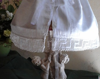 Lampshade cotton petticoat damask