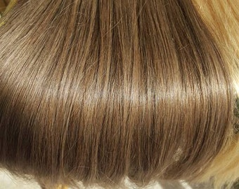Ash Brown, Human Hair Extensions , Natural Color, 100% remy human hair, Clip in extension, 22 ich