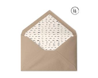 Printable Envelope Liner | Cream Floral Envelope Liner | Multiple Sizes | A7 Envelope Liner | 4 Bar Envelope Liner | Envelope Liner Template