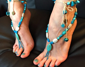 "Barefoot sandals ""Tribal Dancer of Apache"""