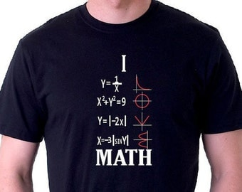 Math Shirt I love Math Shirt T-Shirt