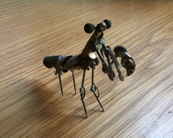 Preying Mantis made from watch parts