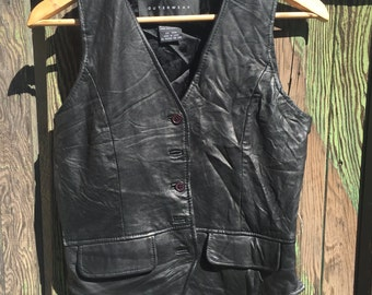 Leather and Silk Vest