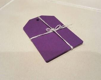 Purple gift tags (set of 10)