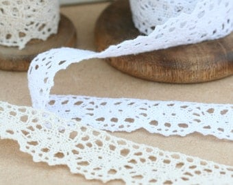 Crochet Cotton Lace Ribbon Trim 30mm Vintage Style Crafts and Sewing