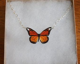 Little monarch necklace