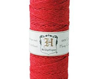 Hemptique-roll of hemp rope, 50 g, colour: Red NM-HS20-RED