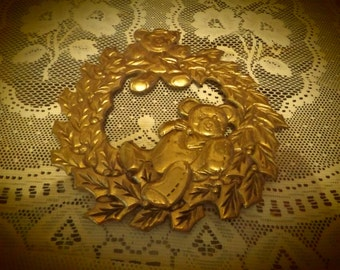 Brass Teddy Bear Trivet