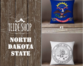north dakota pillow etsy