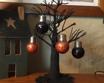 Halloween Glitter Ornament Set