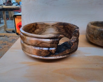 Spalted maple bowl