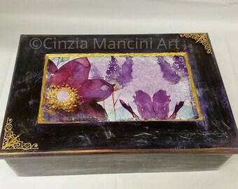 The Purple Poppies Jewellery Box