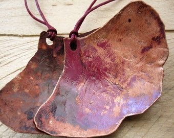 Red Patina Ginko leaf