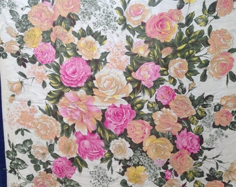 Floral silk scarf by Huali Japan