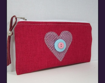 Pouch Bag- Small Zippered Bag-