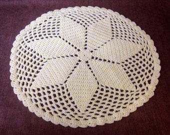 CLEARANCE PRICE DROP! Handmade/hand crocheted yellow round baby afghan/blanket
