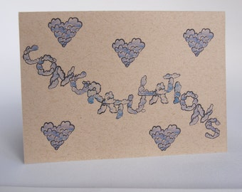 Greeting Card- Congratulations, clouds