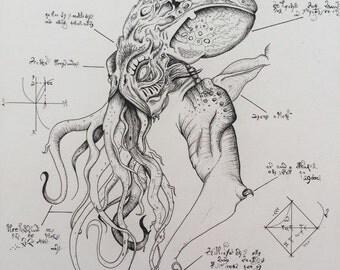 Ancient Cthulu - print