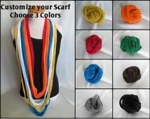 Team Colors Scarf, Sorority Scarf, Sports Scarf, Customized Scarf, Stadium scarf,T-shirt Scarf, Football Scarf, Hockey Scarf, College Scarf,