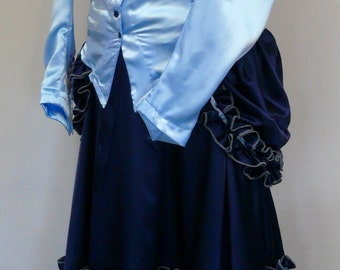 Women's Blue Victorian Steampunk Outfit size Medium, Large, XL, XXL