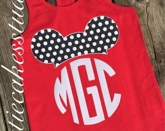 Disney shirt mickey minnie mouse Tank top Disney Girl Baby Toddler Ladies disney world monogram disneu vacation shirt