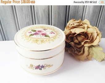 SALE Sadler China Beauty Container / Sadler Container / Sadler Dish / China Container / Beauty Container / Cotton Ball Container / Trinket B