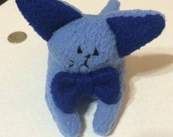 Small Plush Blue Cat