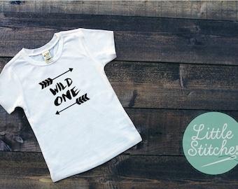 Wild One T-shirt - baby t-shirt - boys t-shirt - girls t-shirt - vinyl printed T-Shirt - choice of size and colour