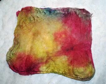 Hand-painted silk Hankie