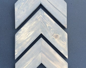 FREE SHIPPING~Chevron Wood Arrows Set of 3
