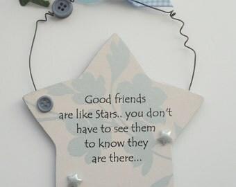 Good friends friendship Gift Star