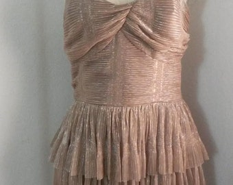 Vintage Inspired Ruffled Romancing Dress in Ivory