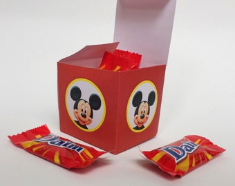 Mickey Mouse Boxes for Birthday Party - Treat Boxes Mickey Mouse - Mickey Mouse Birthday Party Decoration
