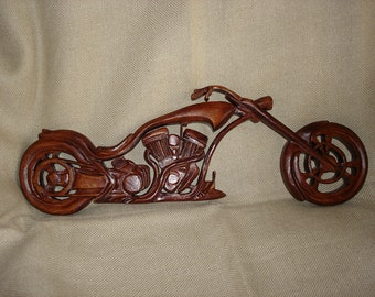 Wooden Chopper,  Wooden Motorcycle,  Motorcycle,  Chopper Bike, Wood Rocker,  Wood carving Copper, Carving wall Chpper