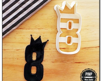 Cookie Cutter 3D Letters & Numbers Princess