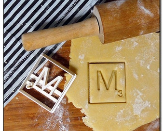Cookie Cutter 3D Scrabble Letters